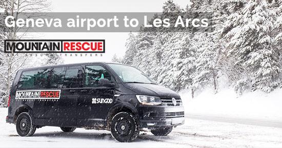 Geneva airport to Les Arcs airport transfers