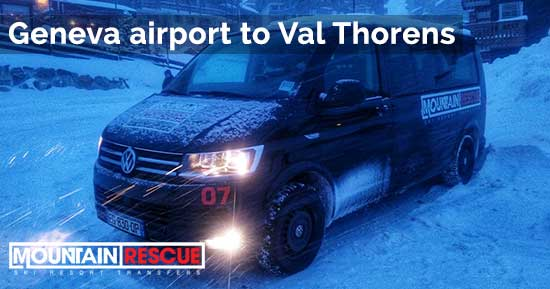 Geneva airport to Val Thorens