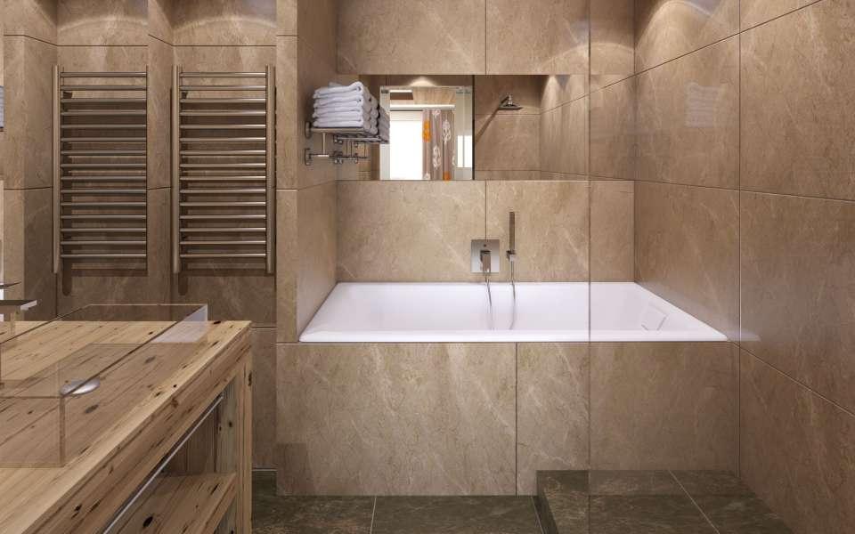 Hotel Taj I Mah Bathroom bath and sink