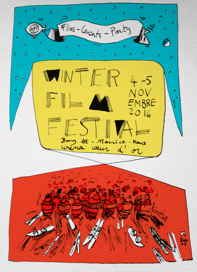 drawn advert of winter festival