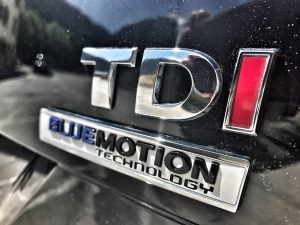 Close up of TDI Blue Motion Badge
