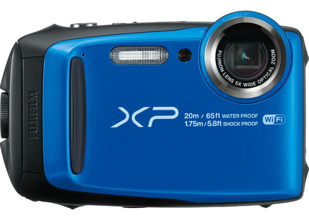 Blue camera Fuji XP120