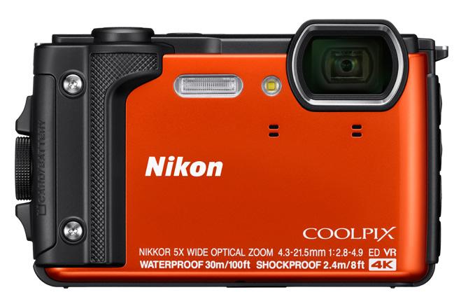 Orange camera Nikon W300