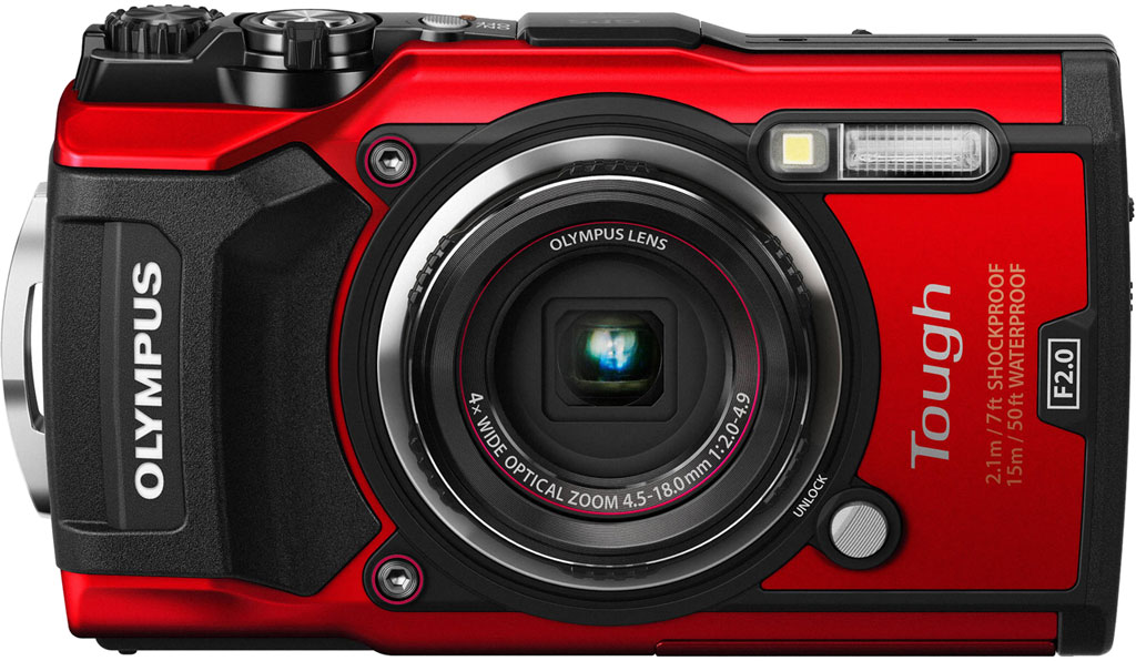 Red camera Olympus TG-5