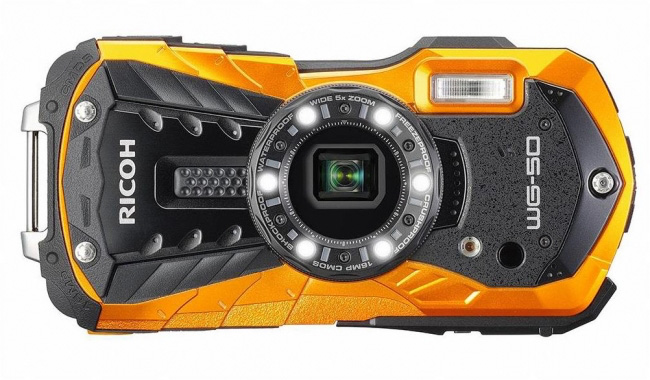 Orange camera Ricoh WG-50