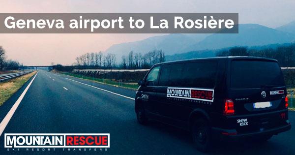 Geneva airport to La Rosière