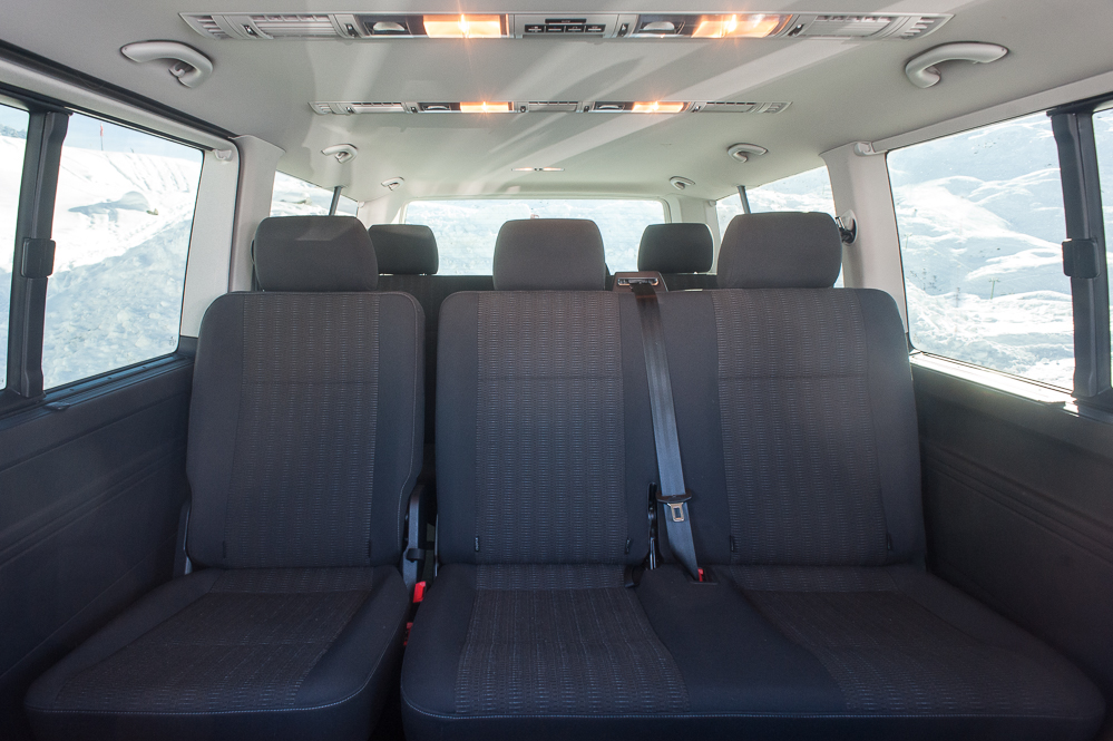 Inside VW Caravelle