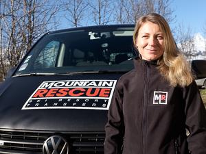 Sue with van